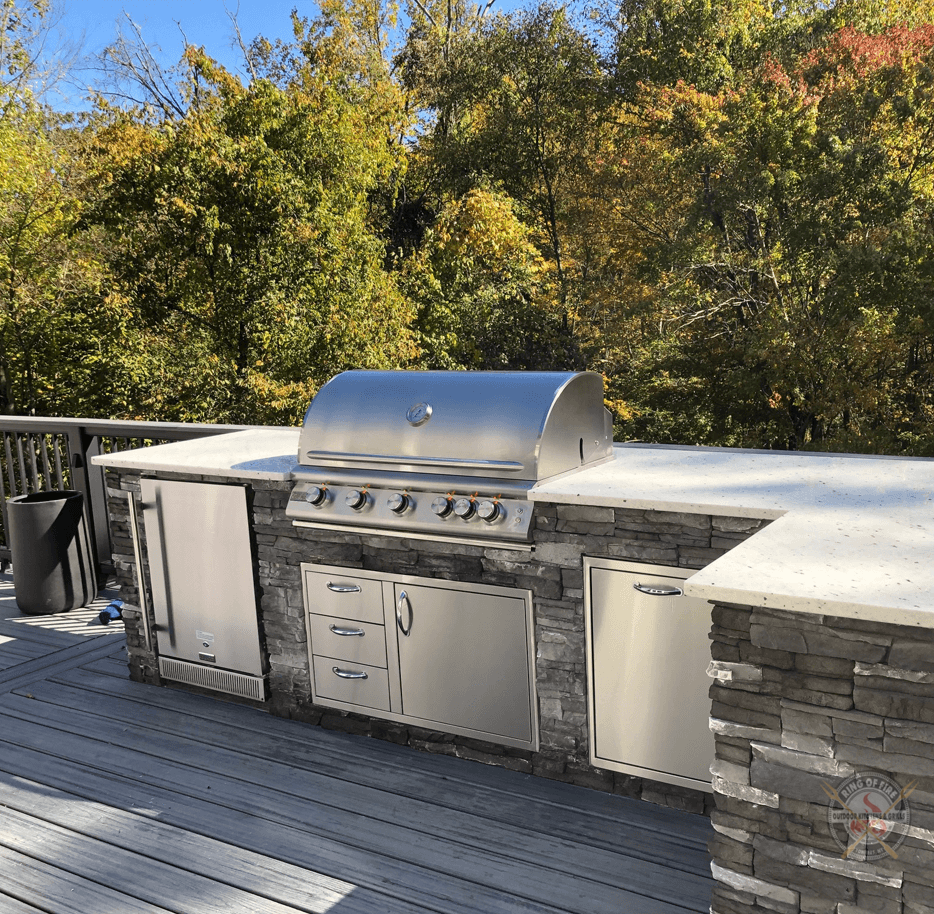 Blaze Outdoor Kitchen Ring Of Fire Outdoor Kitchens Grill Store Westchester County